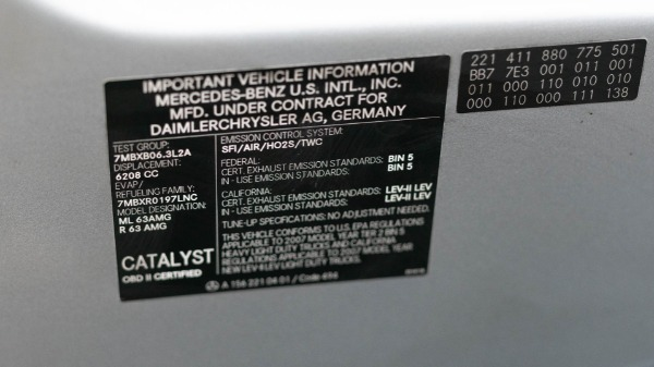 Used 2007 Mercedes-Benz M-Class ML 63 AMG | San Francisco, CA